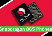 Qualcomm Snapdragon 865 mobile phones list