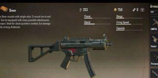 PUBG MP5K gun