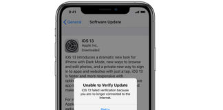 Apple iPhone iOS update error