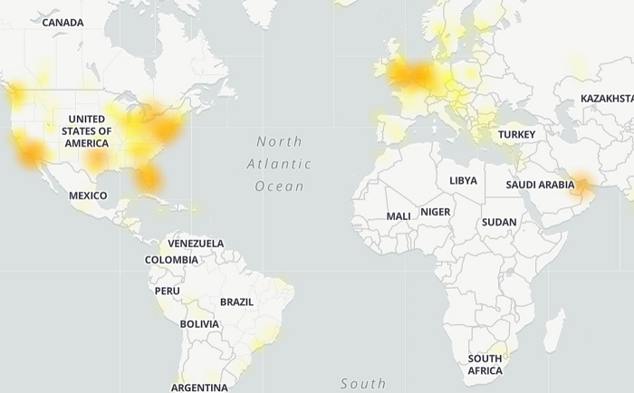 MineCraft server down Outage map
