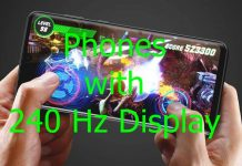 Phone with 240Hz display